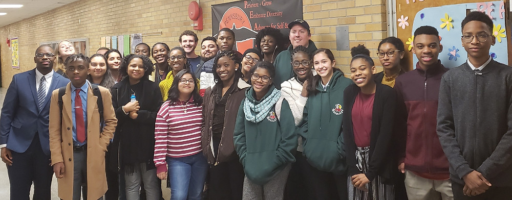 Students from Bowie, DC International, DuVal, Kenmoor, and Washington Latin along with WUDL volunteers at Pennsbury High School