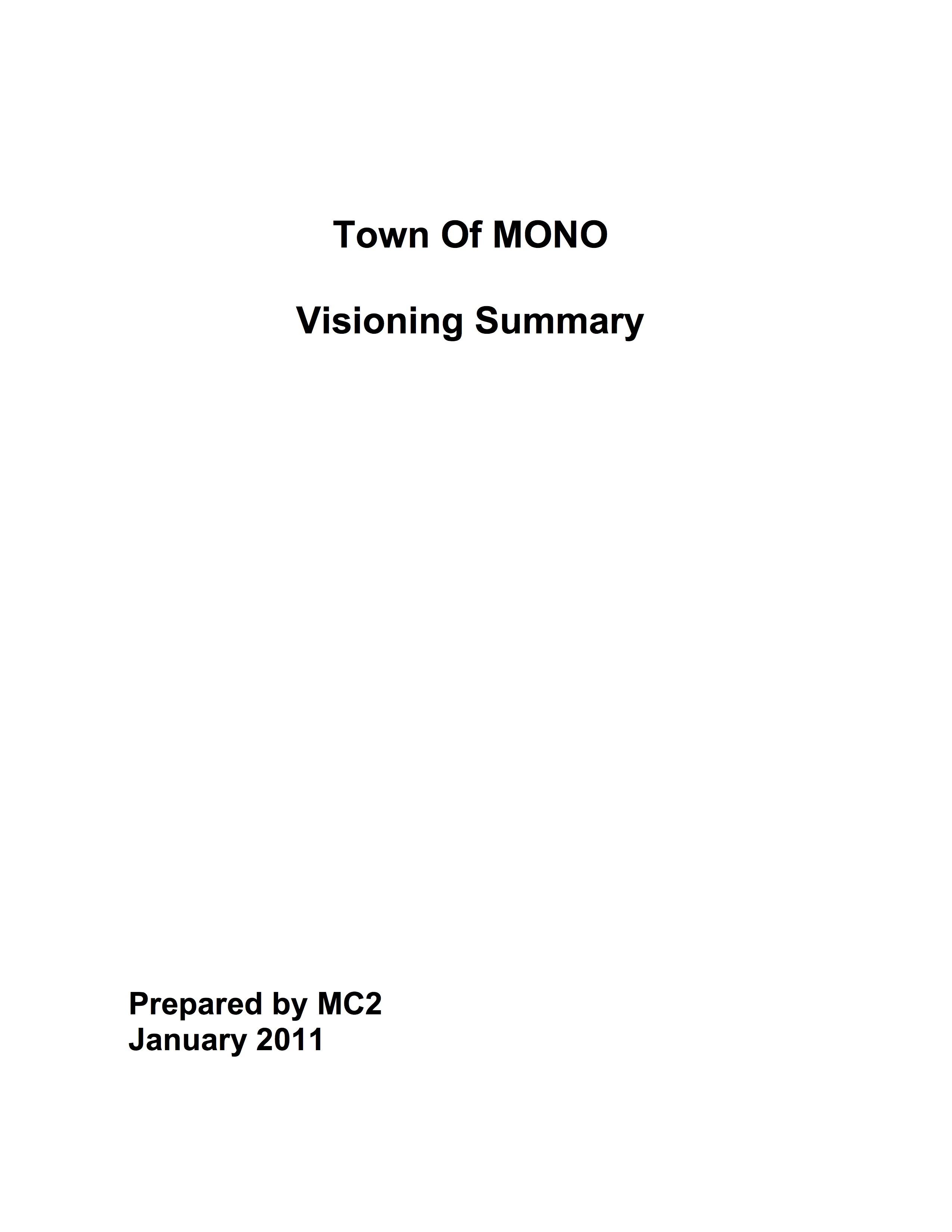 Mono Vision Summary