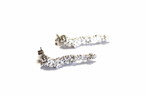 A Pair Of Sterling Silver Long Earrings With Earring Posts And Erfly Backs Also Available In An Oxidised Finish At The Same Price