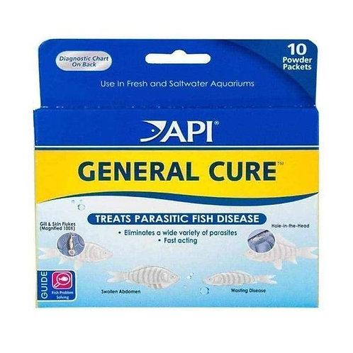API General Cure Freshwater and Saltwater Fish Powder Medication - 10 Pack