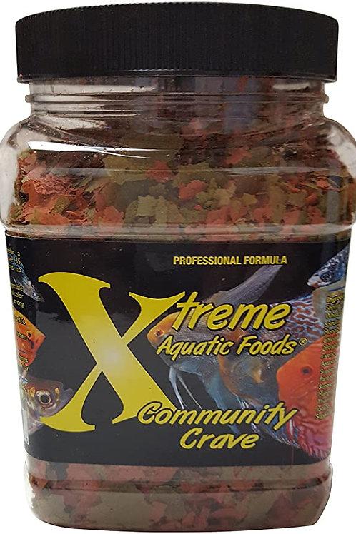 Xtreme Aquatic Foods Community Crave 3.5oz Krill Spirulina Flake