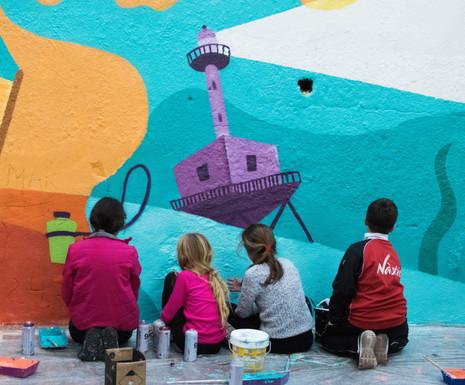 We paint El Serrallo #WIP