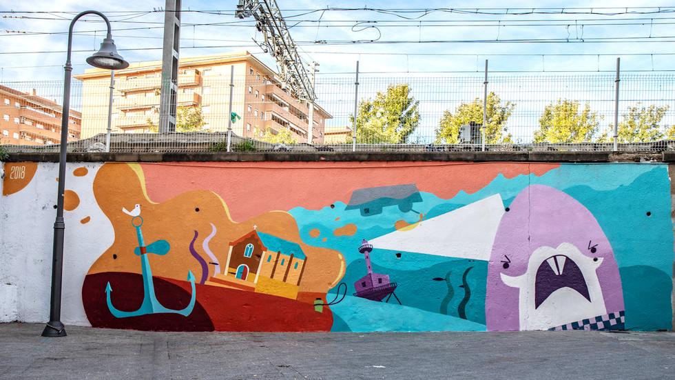 We paint El Serrallo