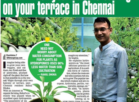 AcquaFarms in Times of India