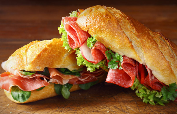 Classic Italian sub on our chibata bread