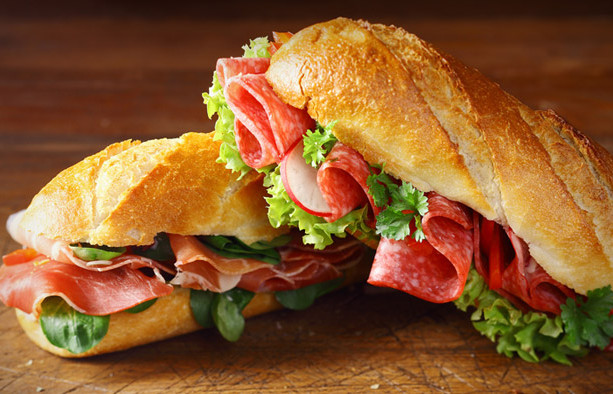 Classic Italian sub on our chibata bread