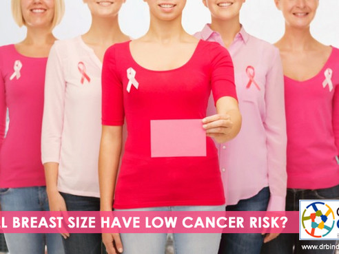 Do Small Chested Women Have Low Risk Of Breast Cancer?