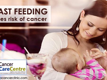 BREAST FEEDING REDUCES CANCER RISK