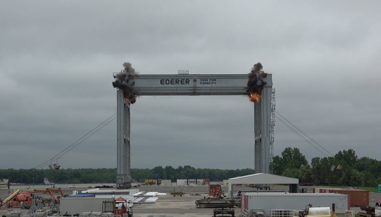 Controlled Blasting Demolition of a 5000