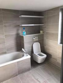 bathroom installation in to a belfast renovation