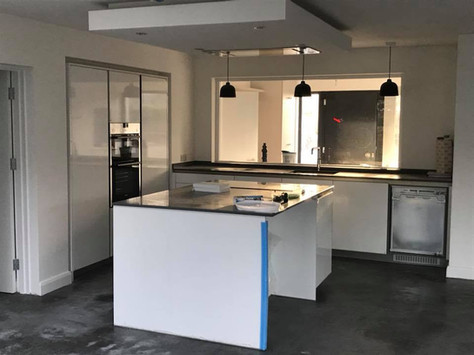 kitchen installed in to belfast house extension