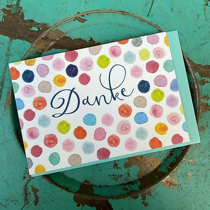 "Karte ""Danke"" mit Kuvert; 18x12cm"