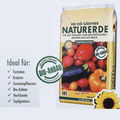 OÖ Gärtner Naturerde gelb - torfreduziert - 45 Liter