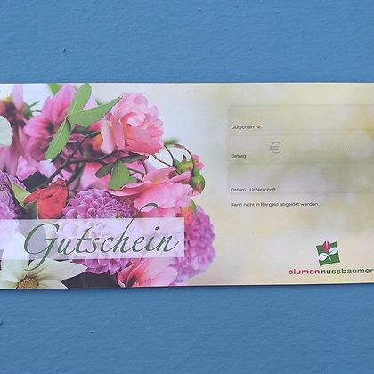 Gutschein für Blumen Nussbaumer
