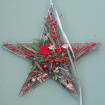 Stern zum hängen; rot, c. 30cm