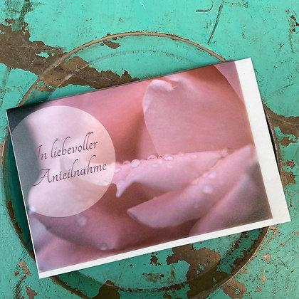 """Karte """"In liebevoller Anteilnahme"""" mit Kuvert; 18x12cm"""