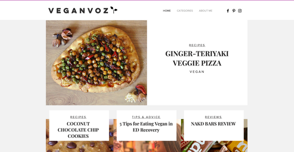 VEGANVOZ Website Design