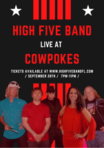 High Five Band Event Flyer