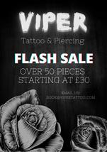 Viper Tattoo Flash Sale Flyer