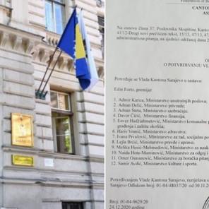 Potvrđena Vlada Kantona Sarajevo