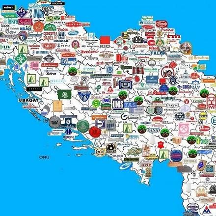 Mapa proizvodnje u Jugoslaviji: Pravljeni su avioni, kompjuteri, brodovi...