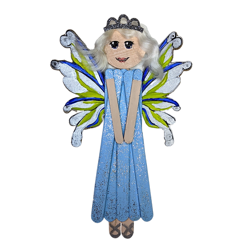 Wooden Fairy Country Wall Hanging Art, Popsicle Stick Home Decor