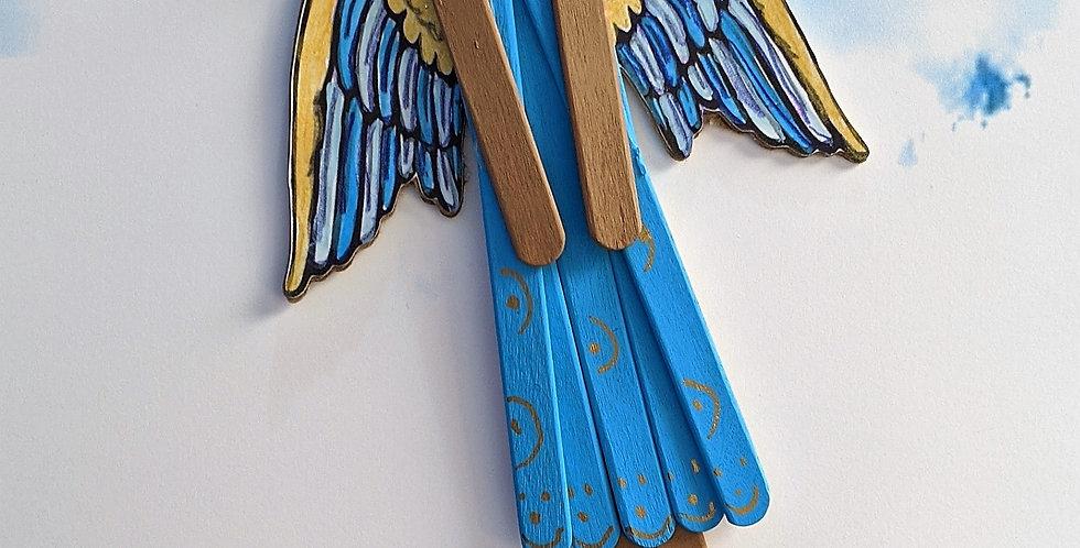 Decorative Wooden Angel Wall / Tree Holiday Decor, Asteria