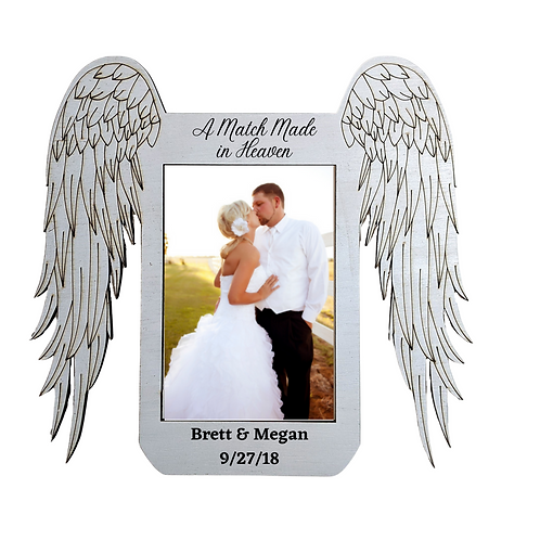 Match Made In Heaven Wedding Picture Frame, Personalized