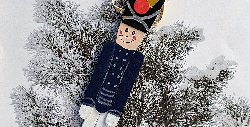 Wooden Spoon Toy Soldier / Nutcracker Holiday Ornament