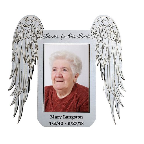 Angel in Heaven Grandma Memorial Picture Frame, Personalized