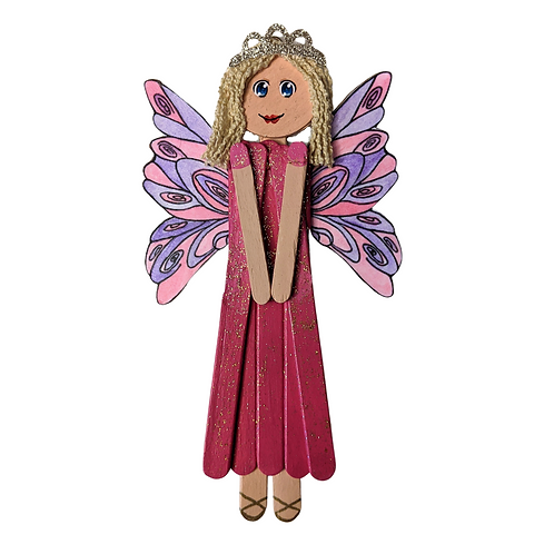 Wooden Fairy Girl's Room Popsicle Stick Home Decor, Imogen
