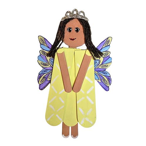 Wooden Fairy Room Brightener, Popsicle Stick Home Decor, Ailana