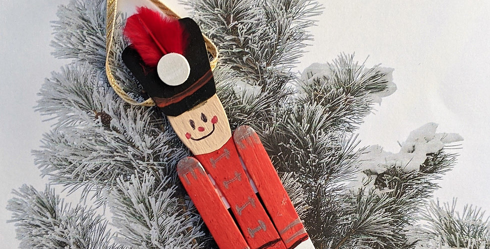 Wooden Spoon Toy Soldier / Nutcracker Holiday Hanging Decor