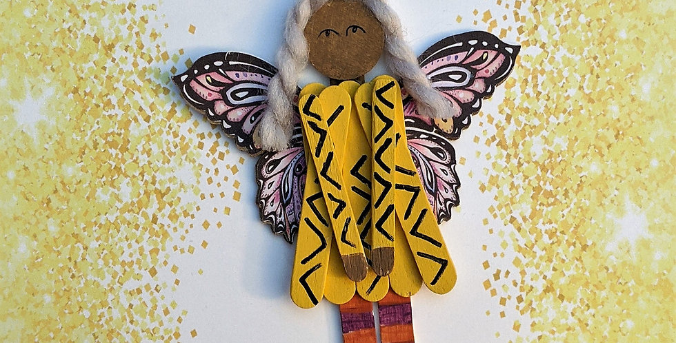 Wooden Pixie Doll, Indigenous Pixie, Harvest Fall Wooden Decoration
