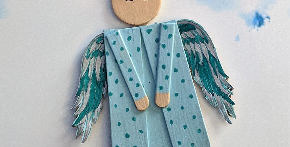 Sleeping Angel Cancer Awareness Doll, Wall Hanging, Christmas Ornament, Nilam