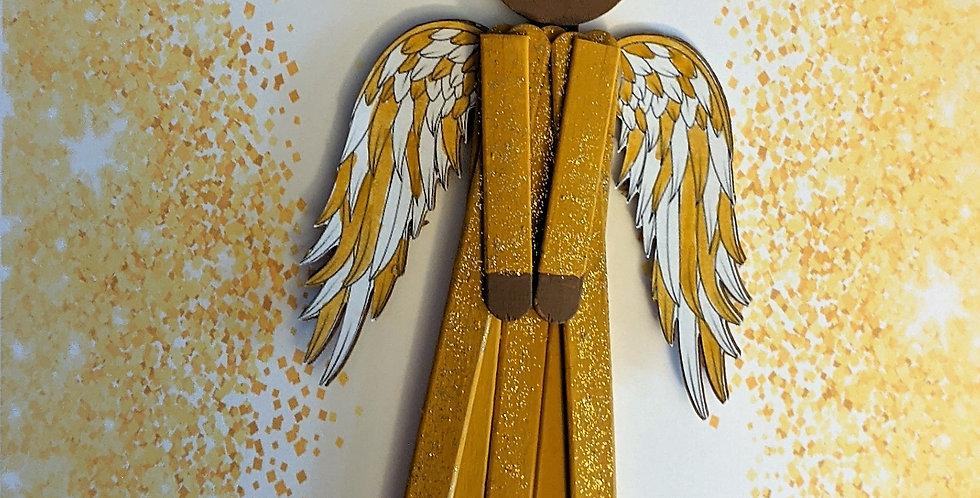 Wooden Handmade Wedding / Anniversary Beautiful Popsicle Stick Angel, Cherith