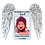 Thumbnail: Angel Wings Picture Frame - Magnet Sized, Personalized