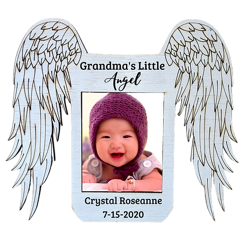 Angel Wings Picture Frame - Magnet Sized, Personalized