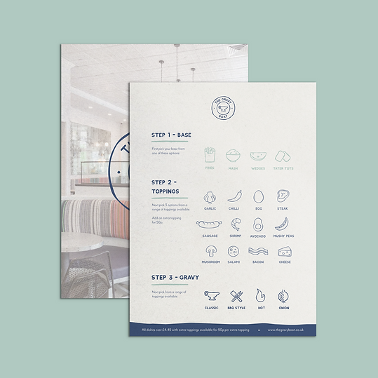 Menu Front and Back
