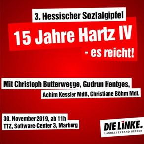 15 Jahre Hartz IV – es reicht!                 3. Sozialgipfel der LINKE.Hessen
