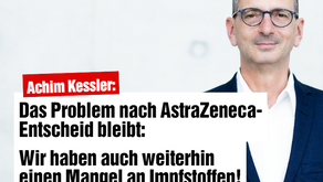 Problem nach Astrazeneca-Entscheid bleibt - Impfstoffproduktion durch Lizenzfreigaben erhöhen