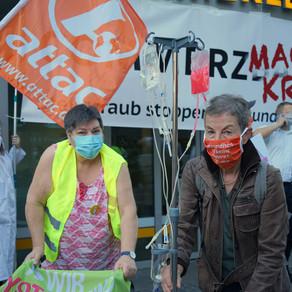"""""""Steuerraub stoppen – Gesundheit finanzieren""""attac und ver.di-Aktion macht Druck zum Handeln!"""