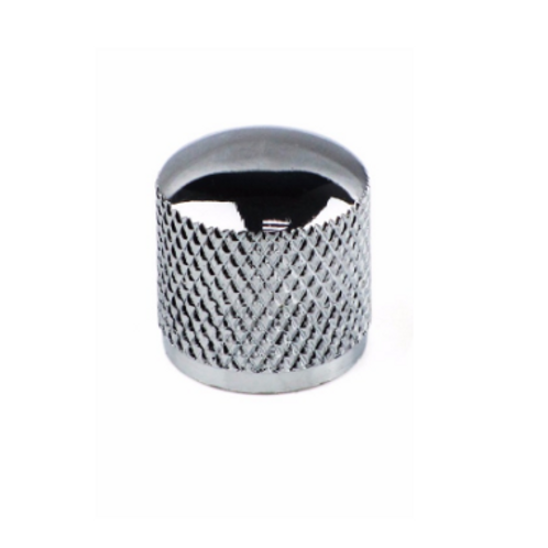 Bouton en métal chromé