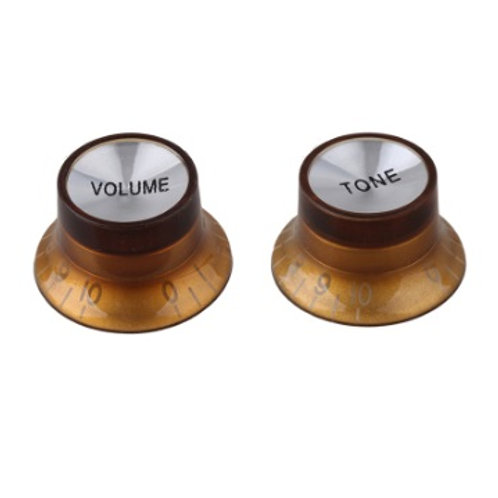 2 boutons Volume & Tone ambre