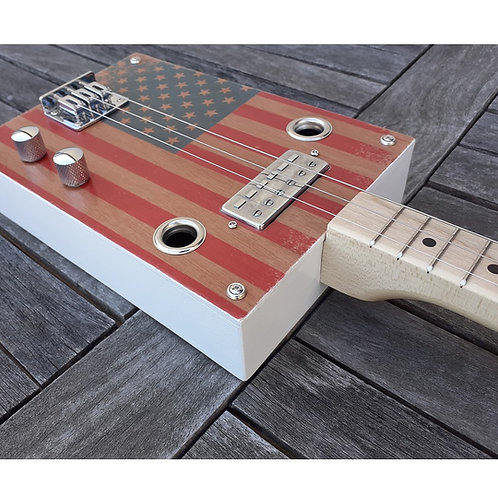 "Guitare box ""Flag Of The US"""