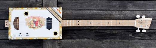 cigar box guitar 4 cordes