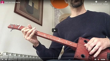 Feel Like Going Home cigar box guitar piezo