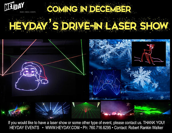 Heyday December Laser Show Coming Soon.j