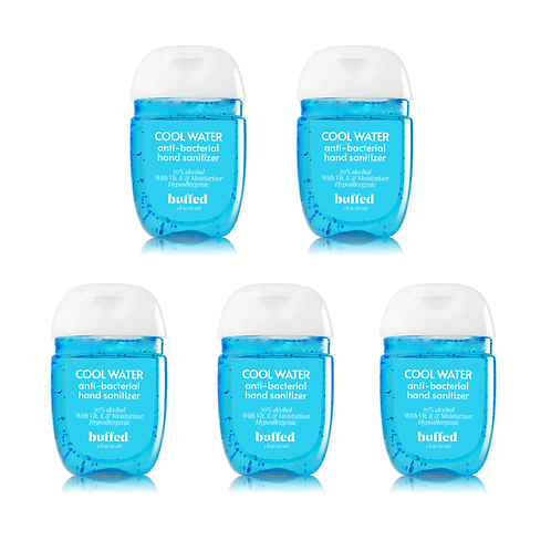 Cool Water Anti-Bacterial Hand Sanitizer (30 ml), 5-pack