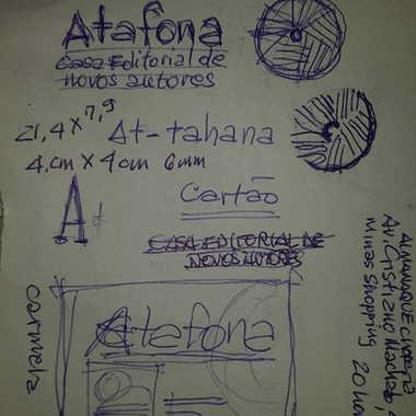 Os primeiros traços para a configuração da marca da Atafona. Era Maio de 2016 (depois lembro o exato dia) quando iniciamos a nossa extensa e extremamente prazerosa temporada de boas conversas.